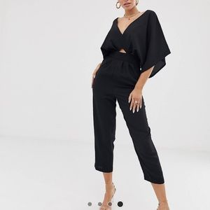 ASOS DESIGN jumpsuit w/ kimono sleeve and peg leg